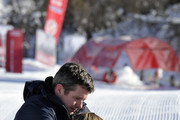 Prince Frederik of Denmark and Prince Vincent of Denmark attend the Danish Royal family annual skiing photocall whilst on holiday on February 8, 2015 in Verbier, Switzerland.