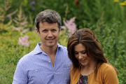 (L-R) Prince Frederik of Denmark, Princess Mary of Denmark and Prince Christian pose during a photocall for the Royal Danish family at their summer residence of Grasten Slot on July 20, 2012 in Grasten, Denmark.