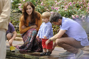 (L-R)  Crown Princess Mary, Prince Vincent Frederik Minik Alexander and Prince Frederik of Denmark pose during a photocall for the Royal Danish family at their summer residence of Grasten Slot on July 20, 2012 in Grasten, Denmark.