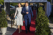 Prince Mary of Denmark and Prince Frederik of Denmark attend an official dinner at Eric Ericssonhallen on May 29, 2017 in Stockholm, Sweden.