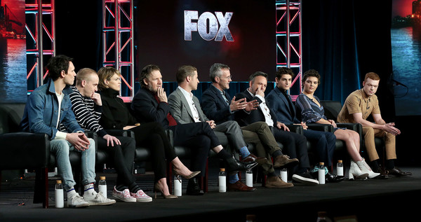 2019 Winter TCA Tour - Day 9 [television show,social group,event,team,audience,crowd,performance,convention,stage,michael smith,robin lloyd taylor,erin richards,danny cannon,david mazouz,camren bicondova,l-r,pasadena,winter tca]