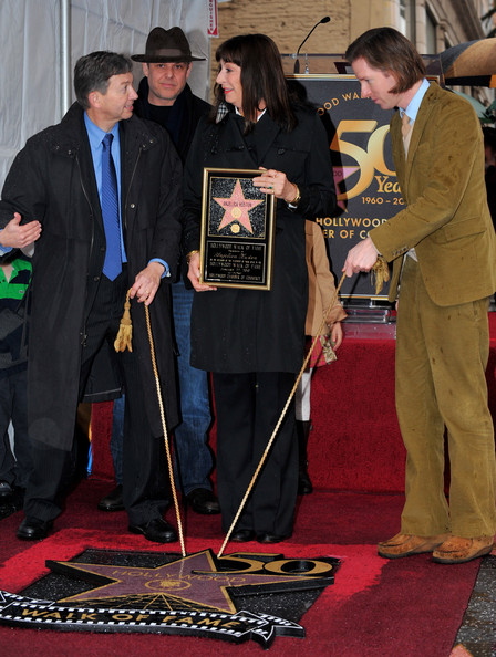Anjelica Huston Honored On The Hollywood Walk Of Fame