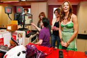 """The Real Housewives of New York City"" Jill Zarin, Countess LuAnn de Lesseps and Kelly Bensimon help to check-out a customer at the Goodwill Denim Drive at JCPenney on April 24, 2010 in New York City."