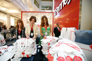 "From ""The Real Housewives of New York City"" Jill Zarin, Countess LuAnn de Lesseps and Kelly Bensimon sign tote-bags to celebrate Earth Week at the Goodwill Denim Drive at JCPenney on April 24, 2010 in New York City."