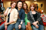 (L-R) The Real Housewives of New York City Countess LuAnn de Lesseps, environmental lifestyle expert Danny Seo, Kelly Bensimon and Jill Zarin celebrate Earth Week at the Goodwill Denim Drive at JCPenney on April 24, 2010 in New York City.