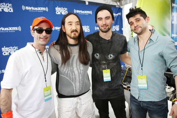 SiriusXM's 'UMF Radio' Broadcast Live  [event,technology,eyewear,recreation,team,tourism,danny valentino,kramer,dyro,steve aoki,umf radio broadcast live,l-r,miami beach,florida,siriusxm,umf radio]