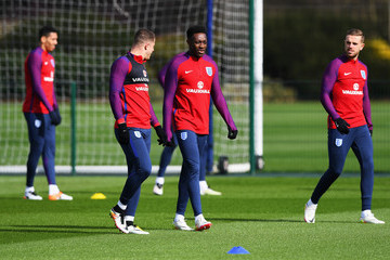 Danny Welbeck Jordan Henderson England Training Session and Press Conference