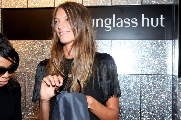 Model Daria Werbowy attends the celebration of Celebrates Fashion's Night Out with Sunglass Hut & Vogue Eyewear at Sunglass Hut - Times Square on September 10, 2009 in New York City.