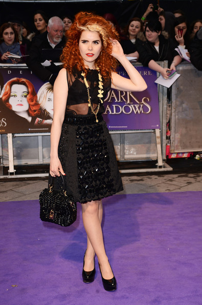 """Paloma Faith attends the European premiere of """"Dark Shadows"""" at Empire Leicester Square on May 9, 2012 in London, England."""