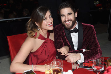 Darren Criss Mia Swier 26th Annual Elton John AIDS Foundation Academy Awards Viewing Party sponsored by Bulgari, celebrating EJAF and the 90th Academy Awards  - Inside
