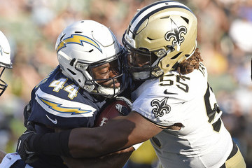 Darryl Tapp New Orleans Saints v Los Angeles Chargers