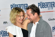 Heike Makatsch and Jan Josef Liefers during the Das Pubertier Premiere at Mathaeser Filmpalast on July 4, 2017 in Munich, Germany.