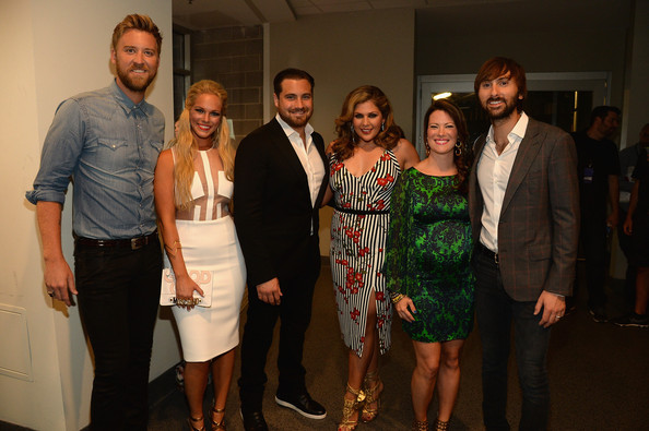 2014 CMT Music Awards - Red Carpet [red carpet,social group,event,fashion,adaptation,party,dress,formal wear,ceremony,suit,dinner,charles kelley,cassie mcconnell,hillary scott,kelli cashiola,chris tyrrell,dave haywood,nashville,tennessee,cmt music awards]