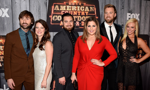 Arrivals at the American Country Countdown Awards — Part 2 [event,premiere,movie,arrivals,dave haywood,charles kelley,hillary scott,chris tyrrell,kelli cashiola,cassie mcconnell,american country countdown awards,music city center,lady antebellum]