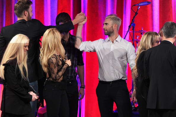 62nd Annual BMI Pop Awards Show [event,pink,performance,fashion,magenta,fun,performing arts,stage,ceremony,musical ensemble,del bryant,stevie nicks,vp,general manager,singers,bmi pop awards,l-r,writer/publisher relations,bmi,show]