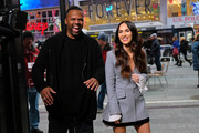 "Television personality A. J. Calloway (L) interviews Actress/model Megan Fox at2 ""Extra"" on November 28, 2018 in New York City."