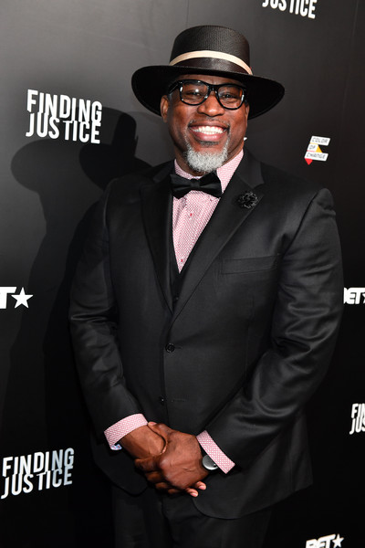BET 'Finding Justice' Atlanta Premiere [bet finding justice atlanta premiere,suit,eyewear,formal wear,tuxedo,premiere,facial hair,fedora,hat,style,tie,david banner,bet ``finding justice,atlanta,georgia,the foundry at puritan mill,premiere]