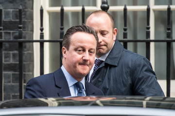 David Cameron David Cameron Leaves Downing Street to Attend Prime Minister's Questions