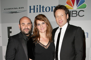 David Duchovny NBCUniversal Golden Globes Party