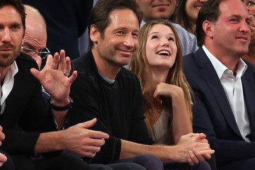 David Duchovny Boston Celtics v New York Knicks
