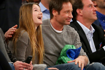 David Duchovny Miami Heat v New York Knicks