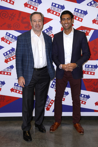 Politicon 2019 – Day 1 [suit,event,formal wear,david frum,steven olikara,politicon,nashville,tennessee,music city center,l]