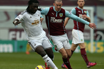 David Jones Burnley v Swansea City - Premier League