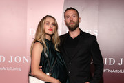 Teresa Palmer and husband Mark Webber attend the David Jones AW19 Season Launch 'The Art of Living' at The Museum of Old and New Art (MONA) on February 5, 2019 in Hobart, Australia.