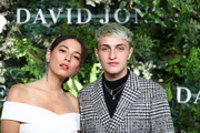 Jessica Gomes and Anwar Hadid attend the David Jones Spring Summer 18 Collections Launch at Fox Studios on August 8, 2018 in Sydney, Australia.