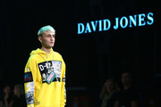 Anwar Hadid showcases designs by Diesel during the media rehearsal ahead of the David Jones Spring Summer 18 Collections Launch at Fox Studios on August 8, 2018 in Sydney, Australia.