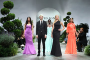(L-R) Jessica Gomes, Anwar Hadid, Adut Akech, Karolina Kurkova and Victoria Lee showcase designs during the media rehearsal ahead of the David Jones Spring Summer 18 Collections Launch at Fox Studios on August 8, 2018 in Sydney, Australia.