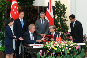 David Koh UK Prime Minister David Cameron Visits Singapore