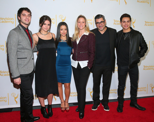 An Evening with 'The Fosters' in Hollywood [red carpet,event,premiere,carpet,flooring,suit,l-r,the fosters,television academy presents an evening with,arrivals,teri polo,danny nucci,david lambert,maia mitchell,cierra ramirez,jake t. austin]