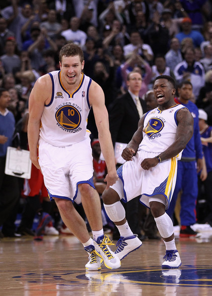 Nate Robinson and David Lee - Los Angeles Clippers v Golden State Warriors
