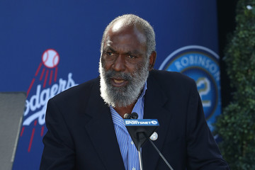 David Robinson Los Angeles Dodgers Unveil Jackie Robinson Statue