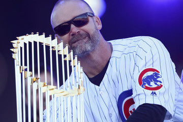 David Ross Chicago Cubs Victory Celebration