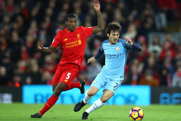 David Silva Liverpool v Manchester City - Premier League