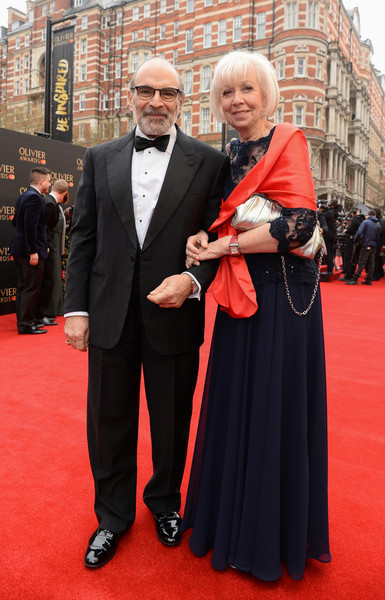The Olivier Awards With Mastercard - VIP Arrivals [red carpet,carpet,red,event,flooring,premiere,suit,formal wear,dress,tuxedo,arrivals,david,sheila suchet,olivier awards,england,london,royal albert hall,mastercard,vip,the olivier awards]