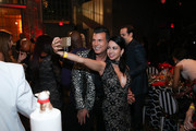 David Tutera (L) mingles with guests at David Tutera's CELEBrations: Ice T & Coco's Pre-Birthday Party For Baby Chanel at Cedar Lake Events on October 22, 2015 in New York City.