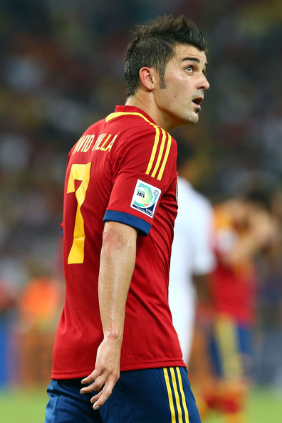 David Villa David Villa of Spain in action during the FIFA ...