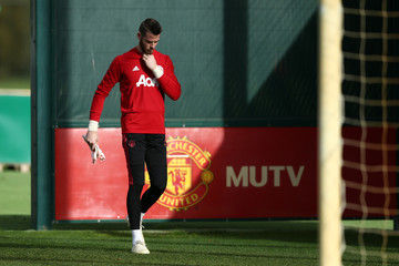 David de Gea Manchester United Training And Press Conference