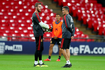 David de Gea Spain Training Session And Press Conference