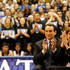 Micki Krzyzewski Photos - Head coach Mike Krzyzewski of the Duke Blue Devils sits with his wife Micki as he is acknowledged for breaking the record for wins in NCAA men's basketball at Cameron Indoor Stadium on November 18, 2011 in Durham, North Carolina. - Davidson v Duke