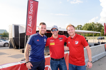 Dax McCarty Audi Hits The Track With Major League Soccer All-Star Players Ahead Of MLS All-Star Game In Chicago