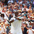 Gael Monfils Photos - Gael Monfils of France celebrates after defeating Sam Querrey of the United States in their Men's Singles third round match on day five of the Wimbledon Lawn Tennis Championships at All England Lawn Tennis and Croquet Club on July 6, 2018 in London, England. - Day Five: The Championships - Wimbledon 2018