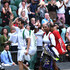 Andy Murray Photos - Andy Murray of Great Britain and Serena Williams of The United States acknowledge the fans following their Mixed Doubles first round match during Day six of The Championships - Wimbledon 2019 at All England Lawn Tennis and Croquet Club on July 06, 2019 in London, England. - Day Six: The Championships - Wimbledon 2019