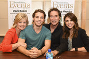 (L-R) Actors Mary Beth Evans, James Lastovic, Drake Hogestyn and Kate Mansi attend the Days Of Our Lives Book Signing - Barnes And Noble The Grove at The Grove on October 25, 2015 in Los Angeles, California.