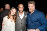 "(L-R) Actress Bojana Novakovic, De Re Gallery owner Steph Sebbag, and actor Michael Cudlitz attend Best Buddies ""The Art of Friendship"" Benefit Photo Auction, hosted by De Re Gallery, on March 3, 2016 in West Hollywood, California."
