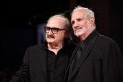 Pino Donaggio and Brian De Palma attend a premiere for 'De Palma' And 'Jaeger-LeCoultre Glory to the Filmmaker 2015 Award' during the 72nd Venice Film Festival at Sala Grande on September 9, 2015 in Venice, Italy.