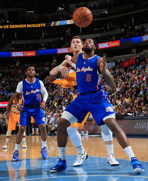 Game 1 Denver Nuggets Los Angeles Clippers: DeAndre Jordan And Jusuf Nurkic Photos Photos